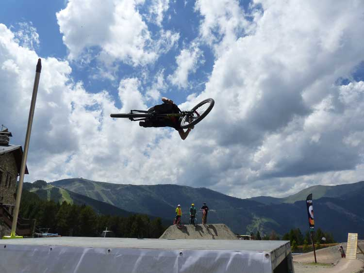 Slopestyle Mountain Bike Crashes Andorra 2014