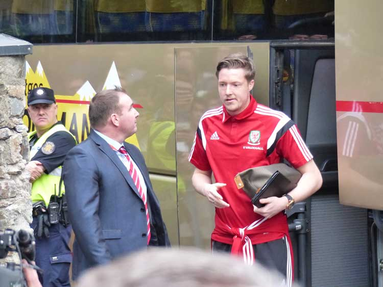Wales football players in Andorra (2)