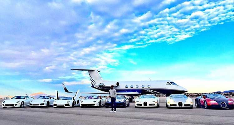 Floyd Mayweather jets and luxury cars